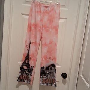New Justice Sparkle pink pajama pants girls 14 /16
